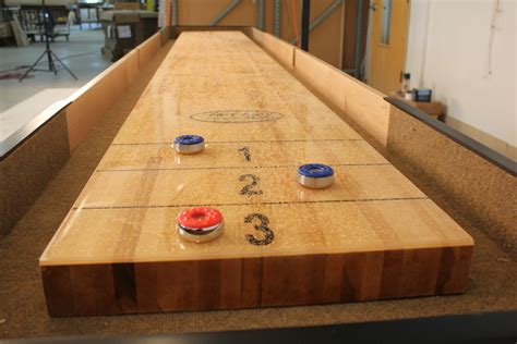 How To Finish A Shuffleboard Table Top