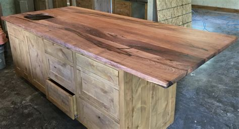 How To Finish A Wood Slab Bar Top
