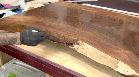 How To Finish Live Edge Wood Slab Table