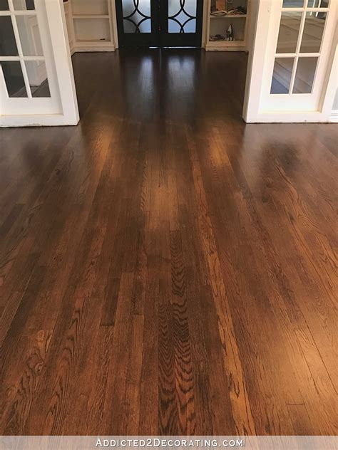 How To Finish Red Oak Floors Very Dark