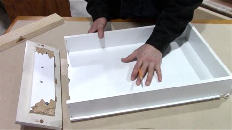 How To Fix A Broken Kitchen Drawer Bottom