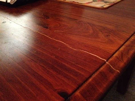 How To Fix A Crack In A Wood Table