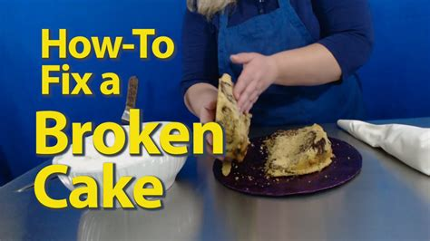 How To Fix A Cracked Cake