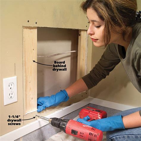 How To Fix A Screw Hole In Sheetrock