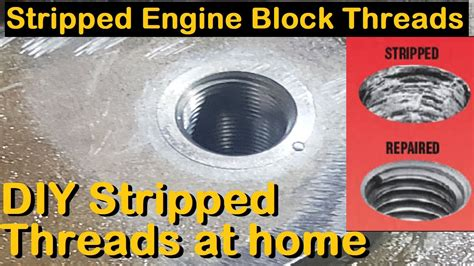 How To Fix A Stripped Bolt Hole In Engine Block