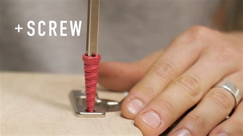 How To Fix A Wood Screw Hole