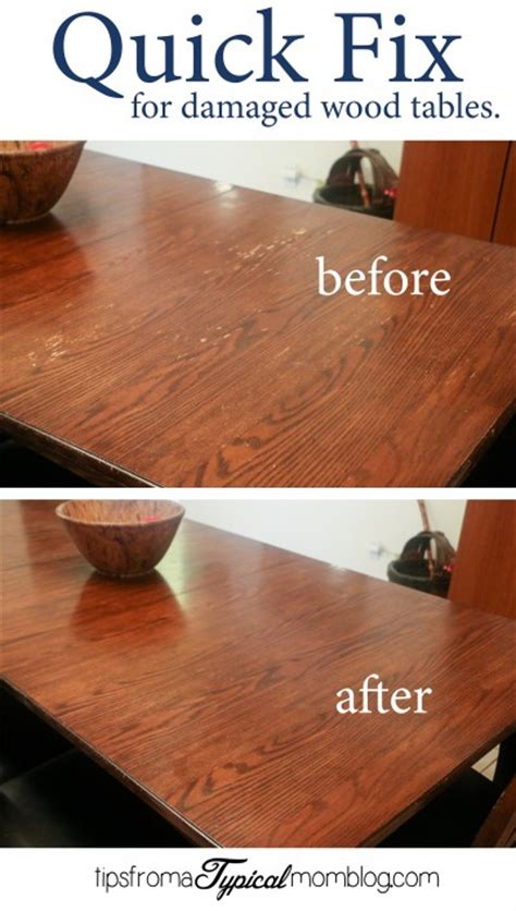 How To Fix Damaged Wood Dining Table