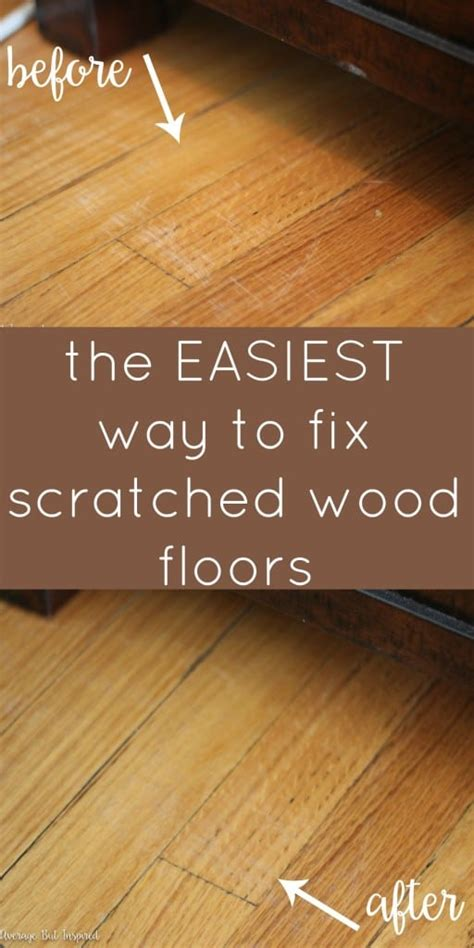 How To Fix Deep Scratches In Wood Floor