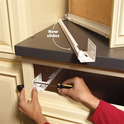 How To Fix Drawer Glides On Kitchen Cabinets