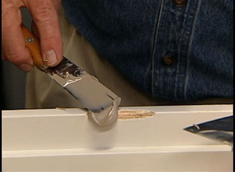 How To Fix Gouges In Wooden Door Frame