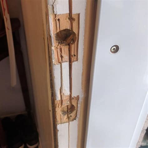 How To Fix Split Wood Door Frame