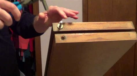 How To Fix Split Wood For Folding Closet Door