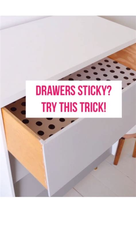 How To Fix Sticky Drawers In Old Furniture