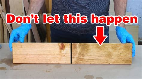 How To Fix Wood Stain Mistakes Happen