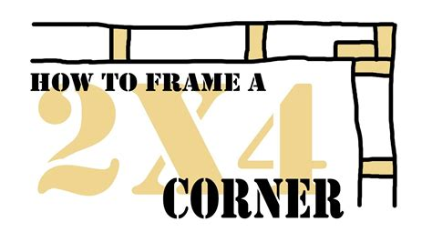 How To Frame A Corner 2x4 Wall