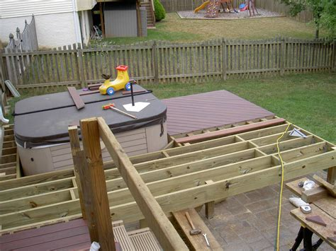 How To Frame A Deck Around A Hot Tub