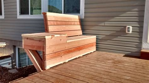 How To Frame A Deck Bench