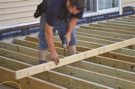 How To Frame A Deck Floor