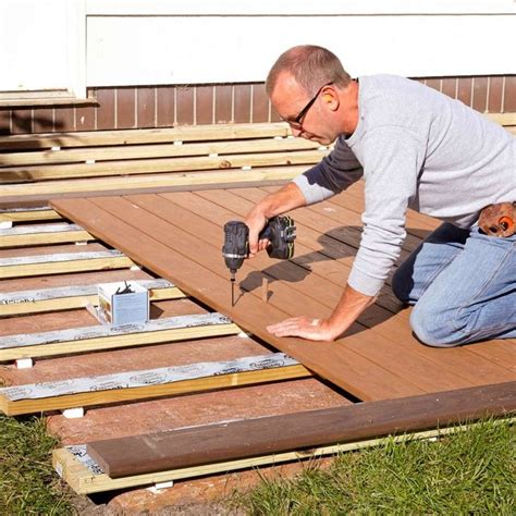 How To Frame A Deck Floor Over Cement Patio