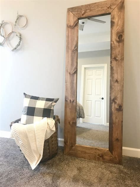 How To Frame A Full Length Mirror Diy