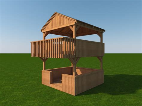 How To Frame A Two Story Playhouse Plans