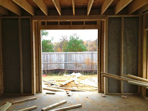 How To Frame Out A Patio Door