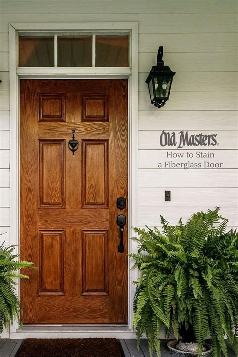 How To Gel Stain Fiberglass Door