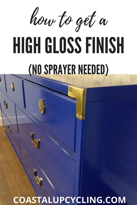 How To Get A Glass Like Paint Finish On Wood