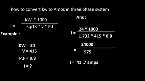 How To Get Amps From Three Phase
