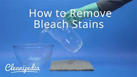 How To Get Bleach Stains Out
