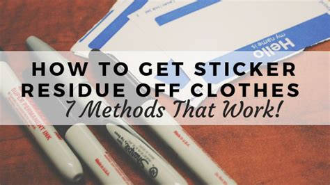 How To Get Glue Off Pants