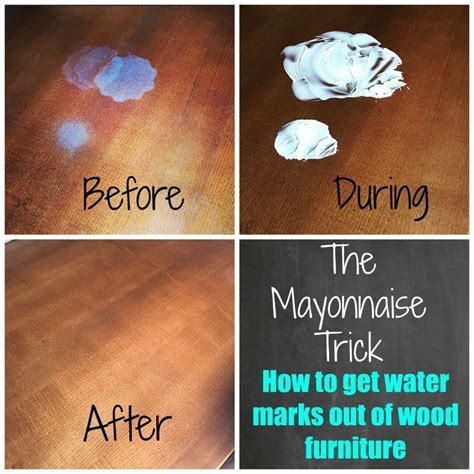 How To Get Moisture Stain Out Of Wood