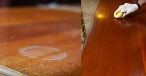 How To Get Rid Of Heat Stain On Wood Table