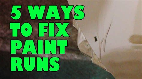How To Get Runs Out Of Spray Paint