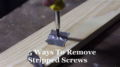 How To Get Stripped Screws Out Of Wood