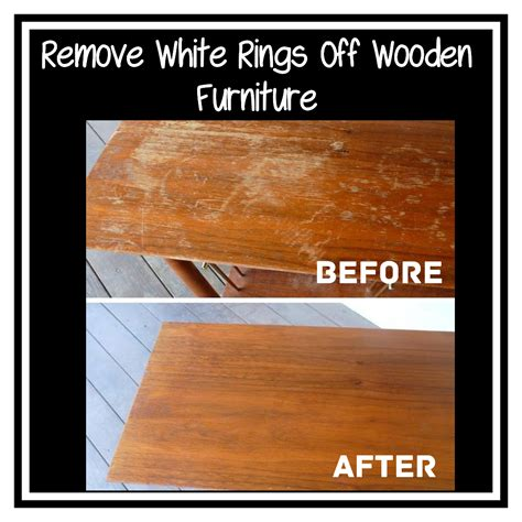 How To Get White Rings Off Wooden Tables