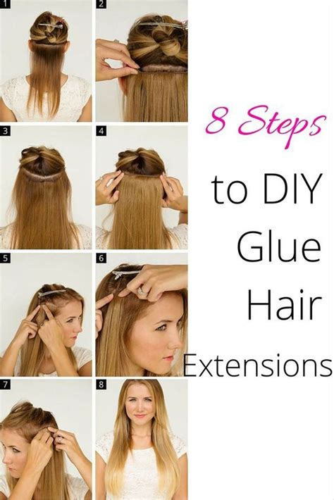 How To Glue In Weave Step By Step