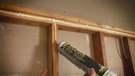 How To Glue Wood To Drywall