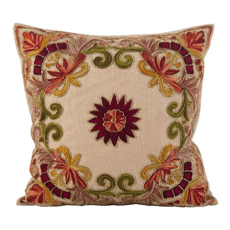 How To Hand Bead Ornate Pattern Decorative Pillow