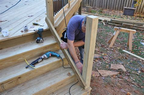 How To Hang A Pre Cut Steps For A Deck