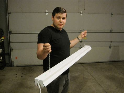 How To Hang Fluorescent Shop Light