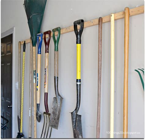 How To Hang Garden Tools On A Wall
