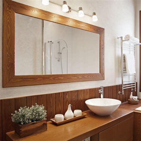 How To Hang Heavy Framed Bathroom Mirror