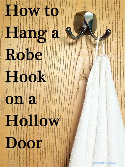 How To Hang Hooks On A Hollow Door Toggle