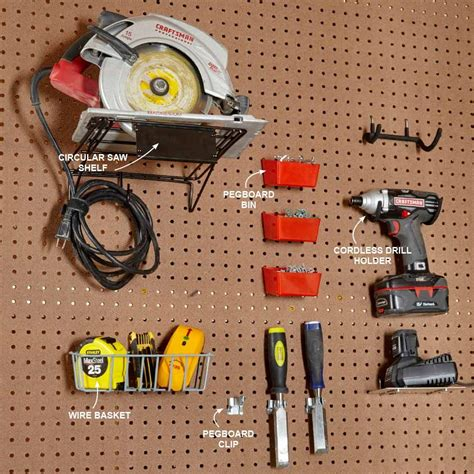 How To Hang Power Tools On Pegboard Clip