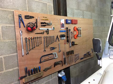 How To Hang Tools On Wall Using Board