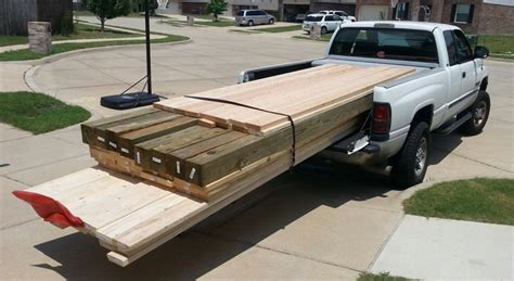How To Haul Long Lumber In A Pickup