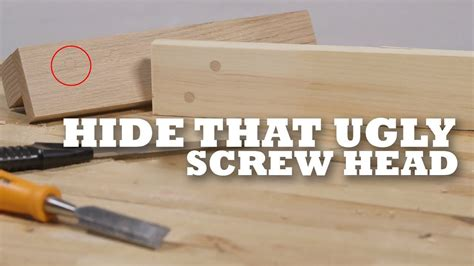 How To Hide Screw Heads