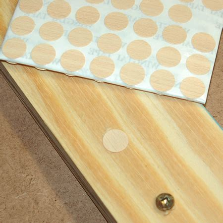 How To Hide Screw Holes In Wood Being Stained