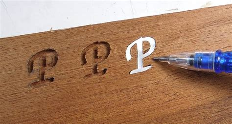 How To Inlay Wood Letters